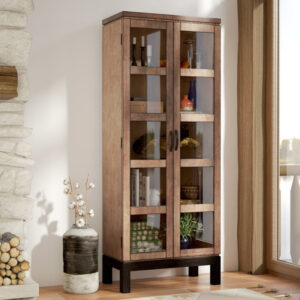 lemari pajangan minimalis kayu terbaru