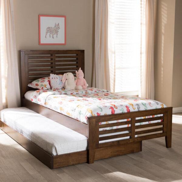 ranjang tidur anak sorong minimalis kayu jati 1