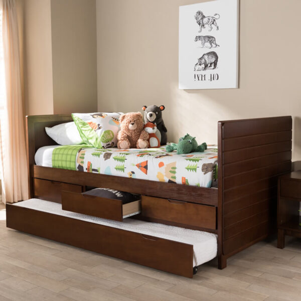 tempat tidur anak minimalis kayu jati 1