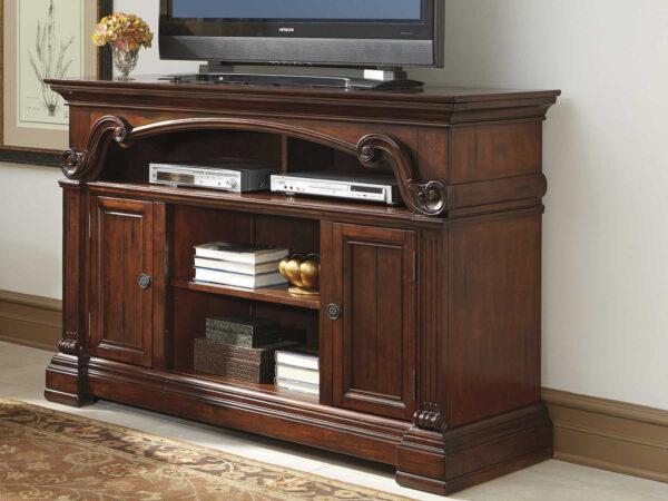 Meja tv kayu jati klasik terbaru