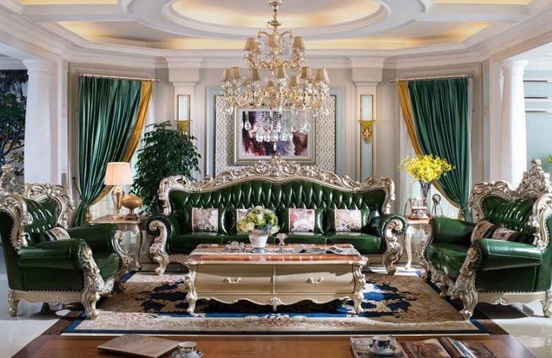 Sofa tamu klasik mewah ukiran jepara