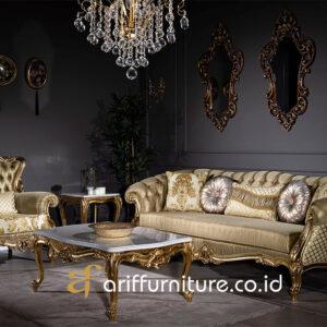 Model Sofa Set Ruang Tamu Ukir Mewah