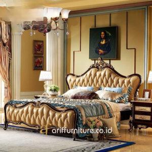 Tempat Tidur Kamar Mewah Klasik Jepara